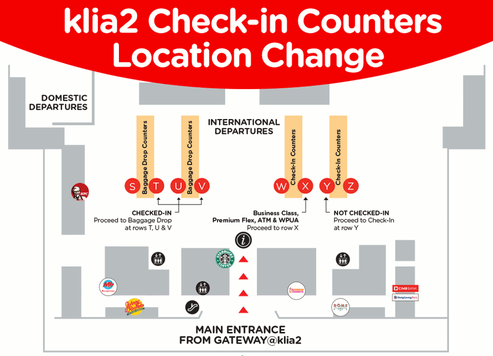 AirAsia check-in / baggge drop counters