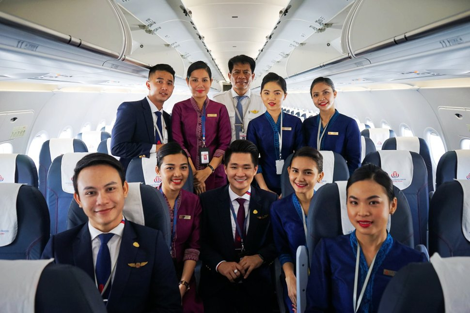 Crew members - JC Cambodia International Airlines
