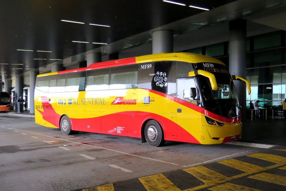 Aerobus at the klia2 terminal