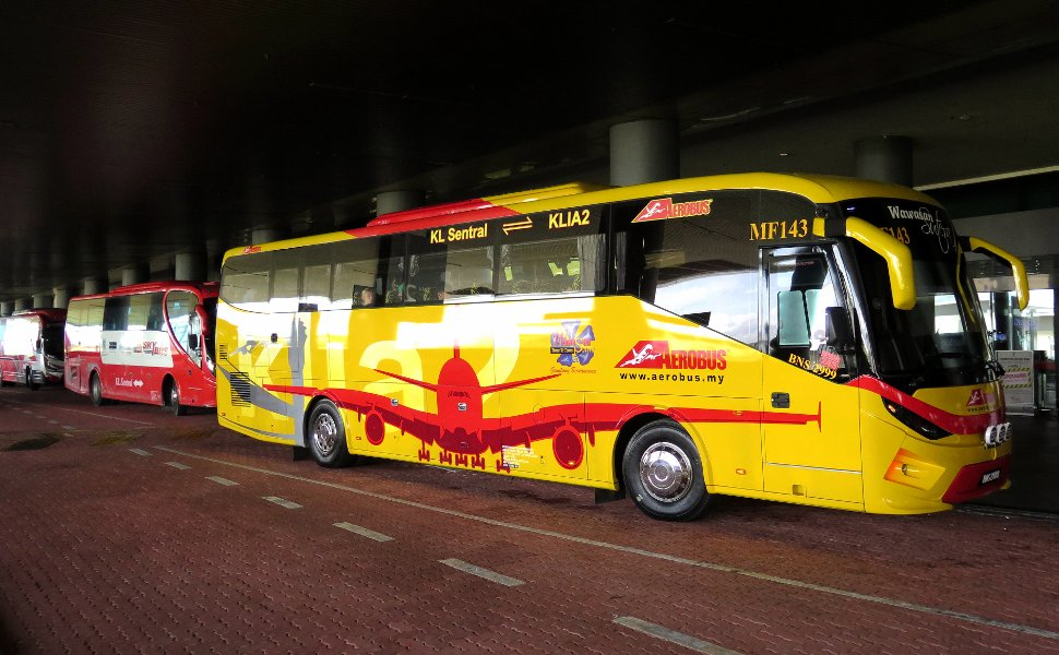 Aerobus at the klia2 Transportation Hub