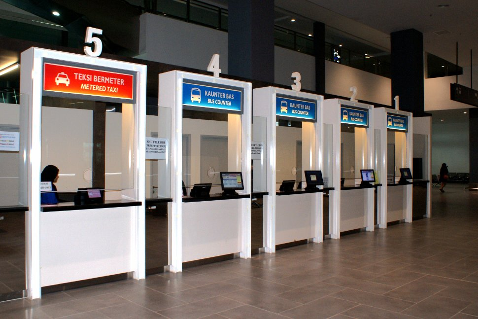 Ticket counters at klia2 transportation hub