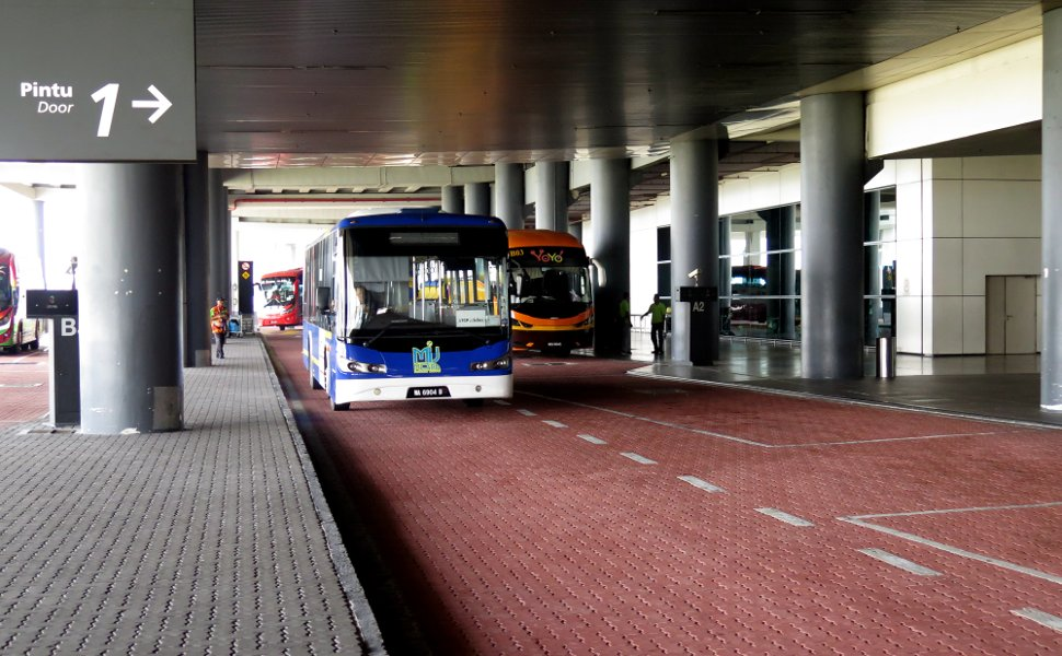 Bus Boarding Platforms at klia2 Transportation Hub