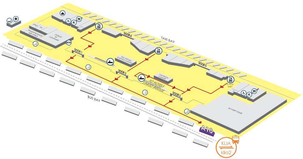 Bay A10, Level 1, Transportation Hub, Gateway@klia2