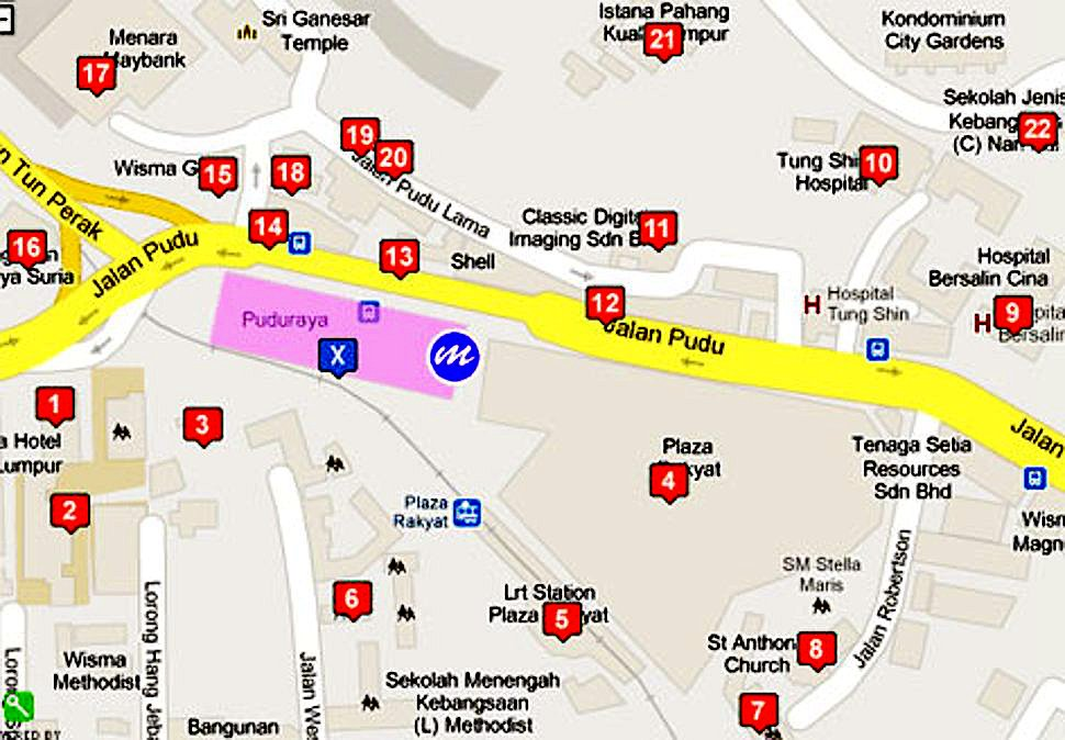 Places of attractions near Pudu Sentral