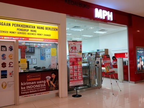 Money changer and MPH bookstore
