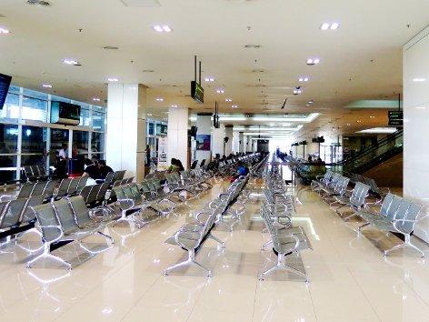 Waiting area at the departure hall