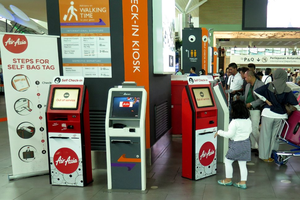 Kiosks / check-in machines are available at the Departure Hall for self check-in