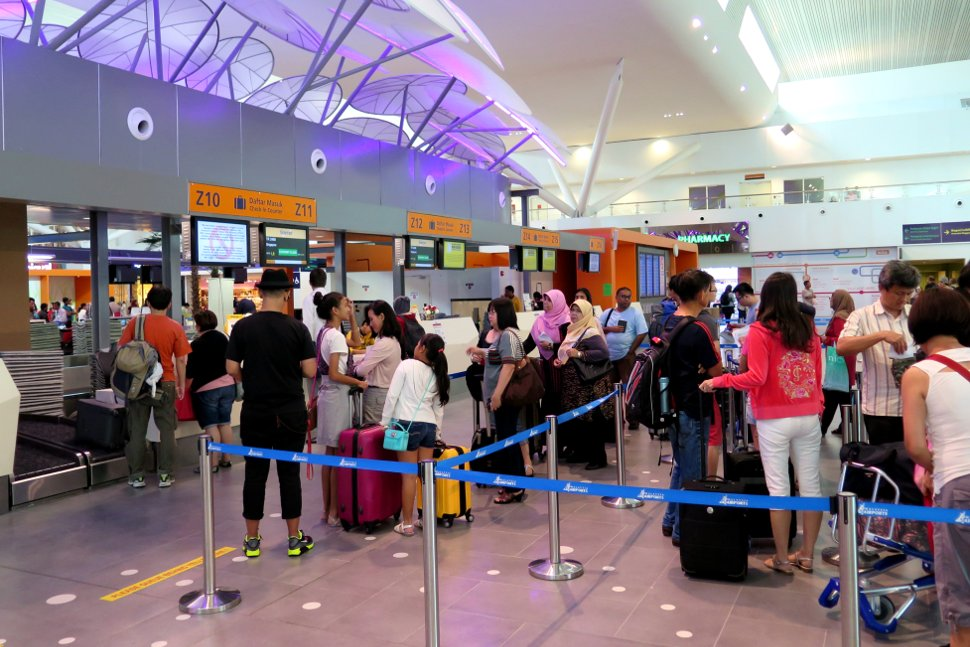 Check-in / luggage drop counters at klia2 Departure Hall