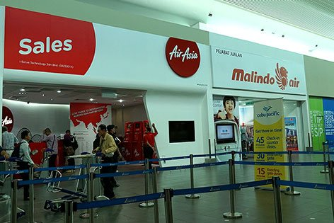 Malindo and AirAsia ticket offices