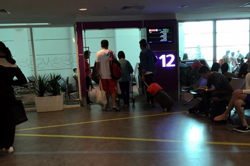 Passengers walking to waiting area