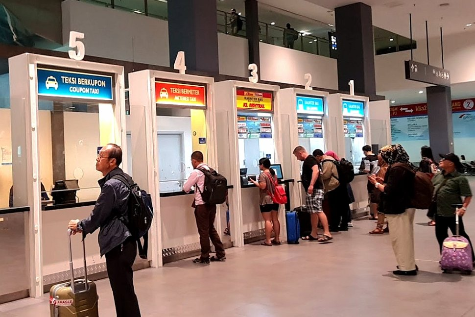 Ticketing counters at Level 1, Gateway@klia2 mall