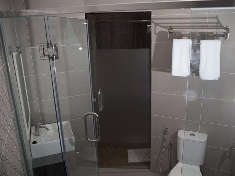 Comfortable and spacious bathroom