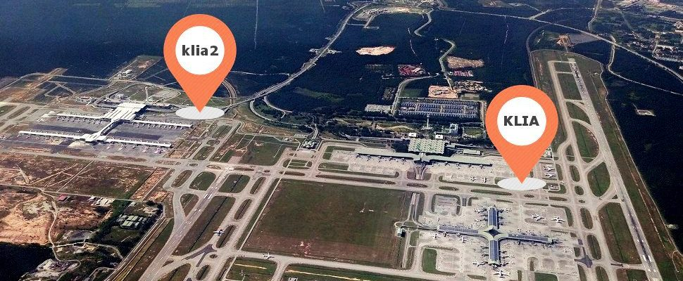 Aerial view of KLIA and klia2