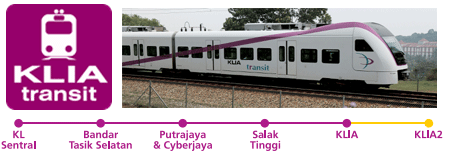 KLIA Transit - 39 Mins from KL Sentral to klia2. Take the train to klia2