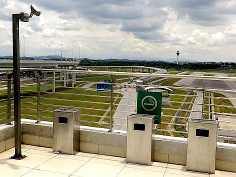 Smoking area outside of klia2 Main Terminal Building (left section)