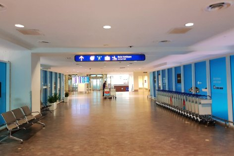 Walkway to Arrival Hall