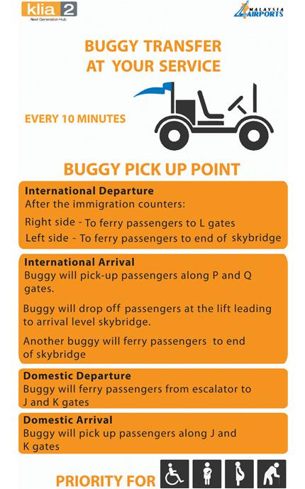 Buggy Transfer Service at Malaysia Airport klia2