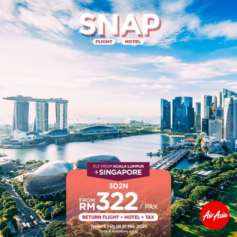 Singapore, 3D2N from RM322 / pax