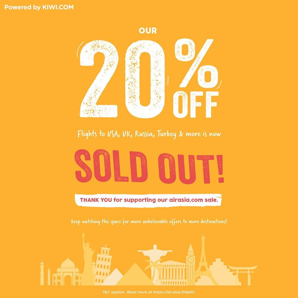 20% OFF promo sold out