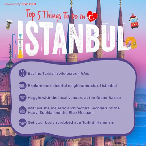 Top 5 things to do in Istanbul