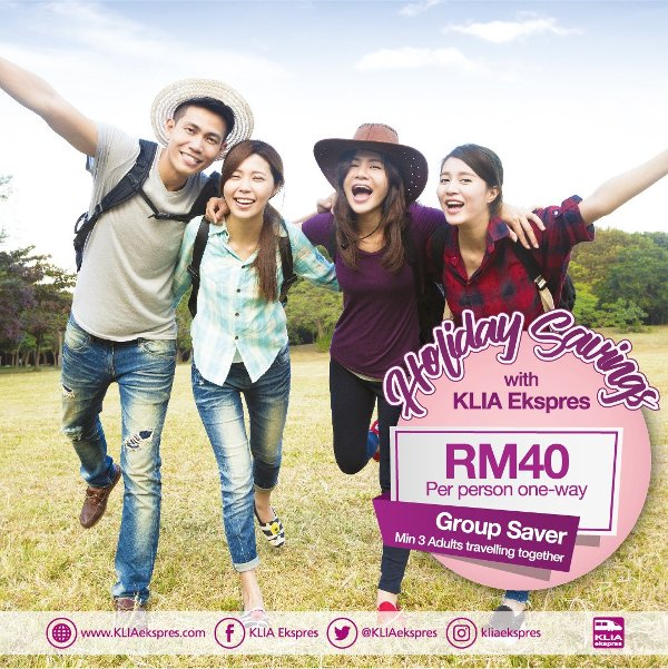 KLIA Ekspres Group Saver promotions!