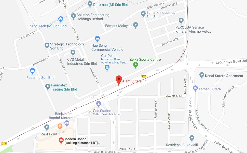 Location of Alam Sutera LRT Station