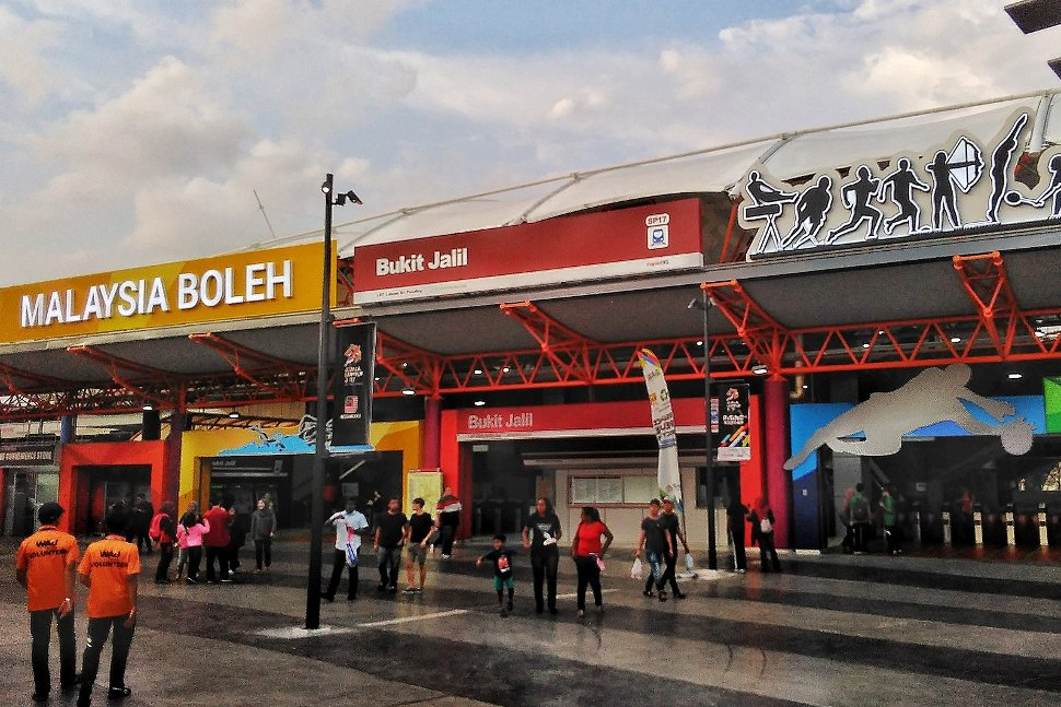 The entrance of Bukit Jalil LRT station