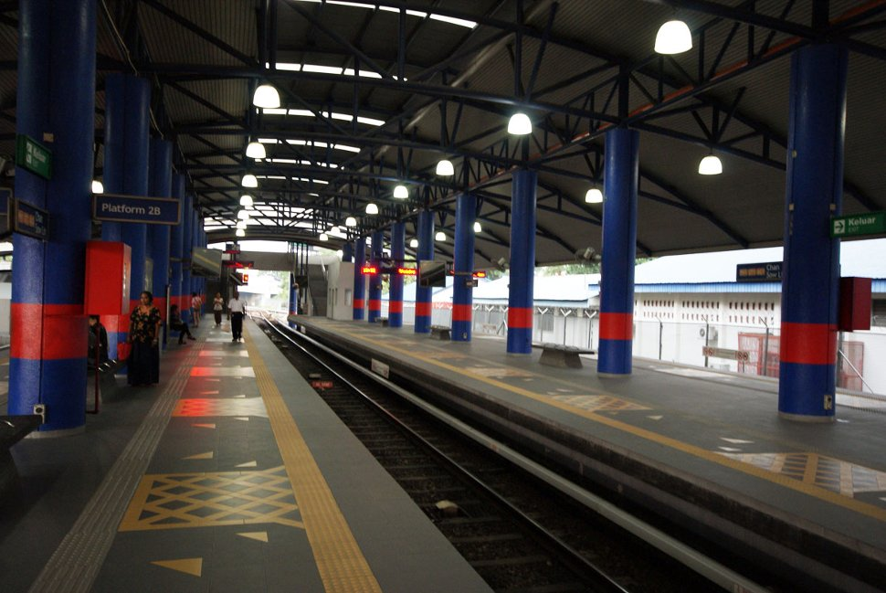 Boarding platforms at Chan Sow Lin LRT station
