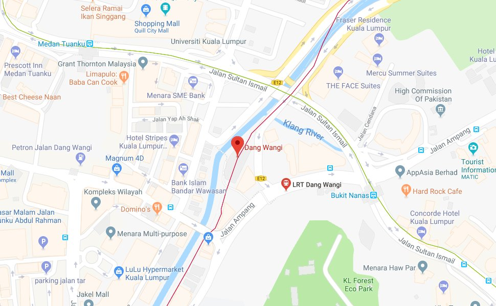 Location of Dang Wangi LRT Station