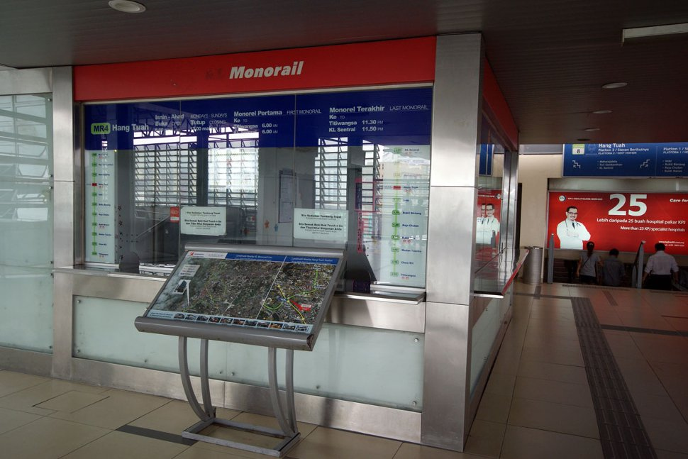 Ticket counter at Hang Tuah Monorail station