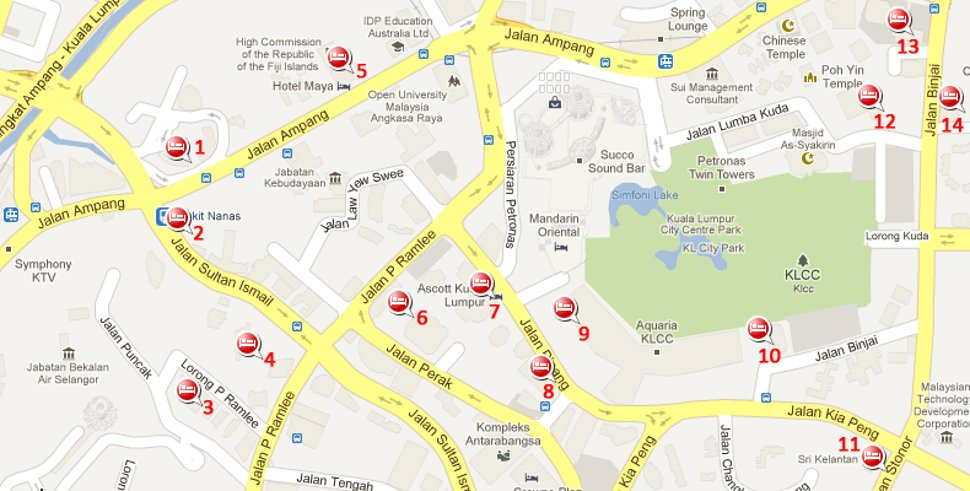 Hotels near Bukit Nanas station