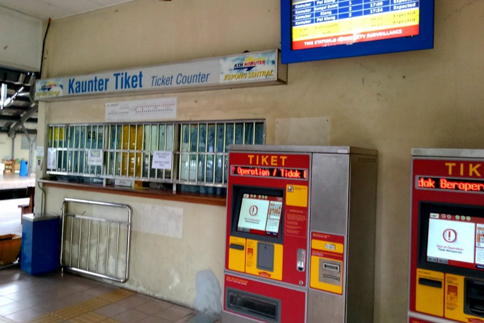 Ticket counter and ticket vending machines