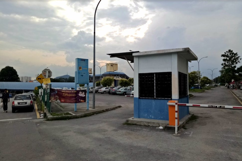 Parking area next to station