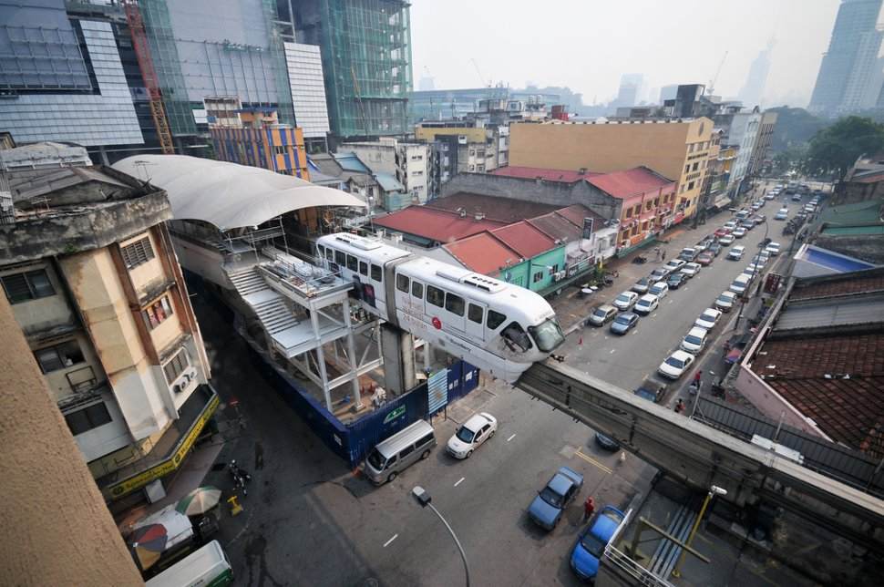 Monorail station near KL Sentral
