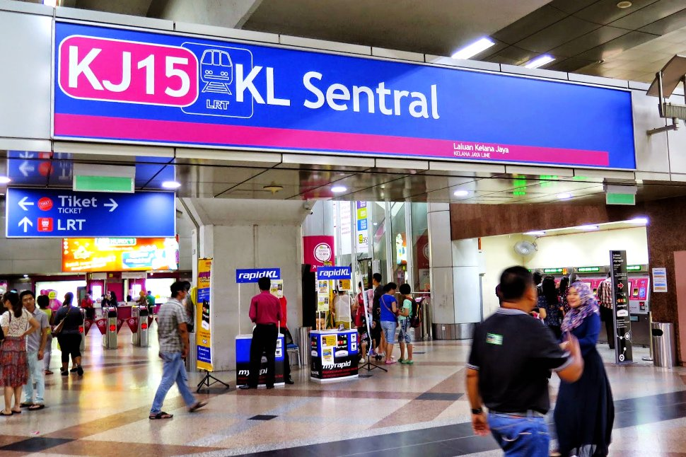 LRT station at KL Sentral