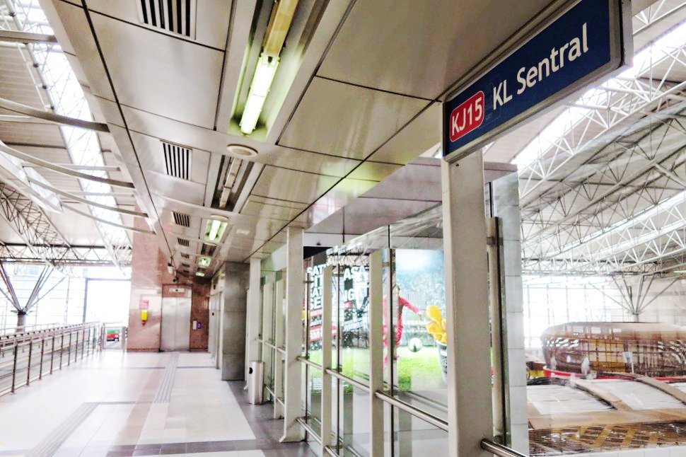 KL Sentral LRT station at the KL Sentral
