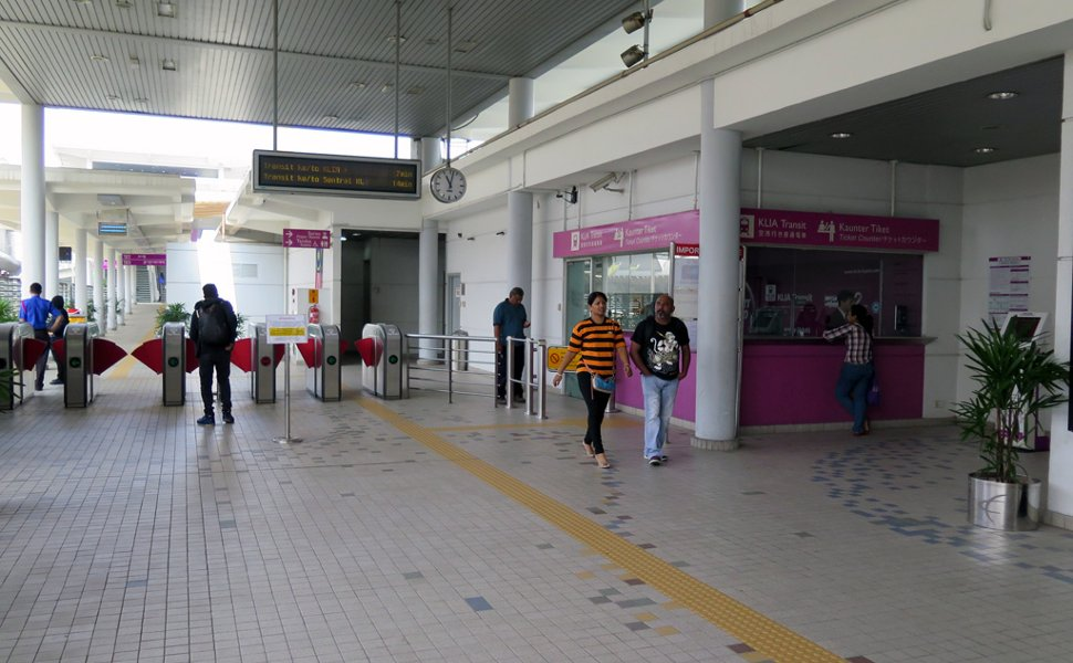 Entrance and ticket counters at ERL station