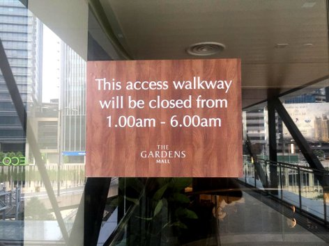 Access walkway operations time