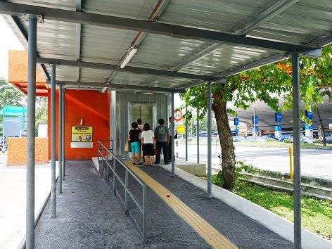 Lift for access to the pedestrian bridge