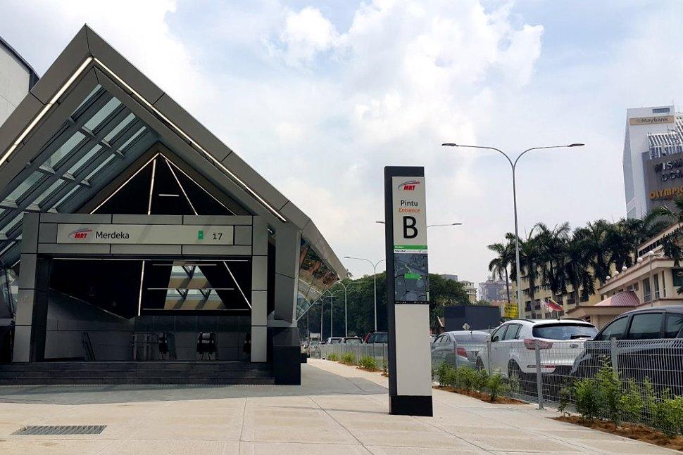 Entrance B of the Merdeka MRT Station