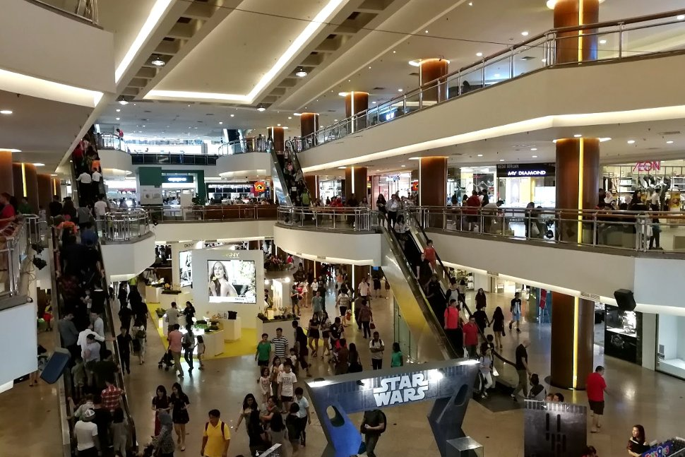 Inside the Mid Valley shopping mall