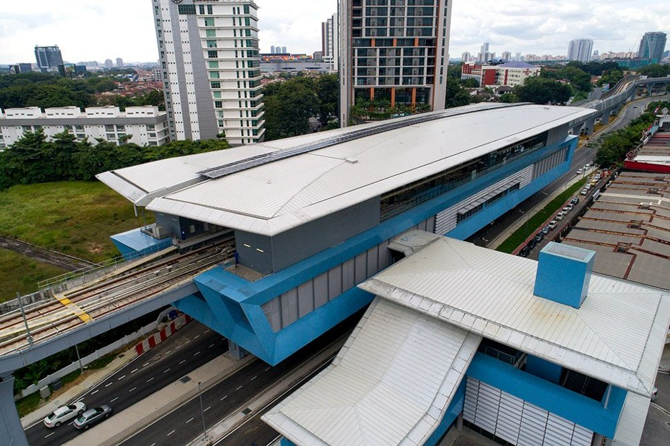 Aerial view of Taman Tun Dr Ismail station