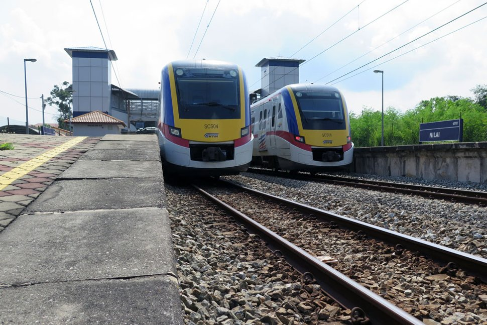 KTM trains waiting at the station
