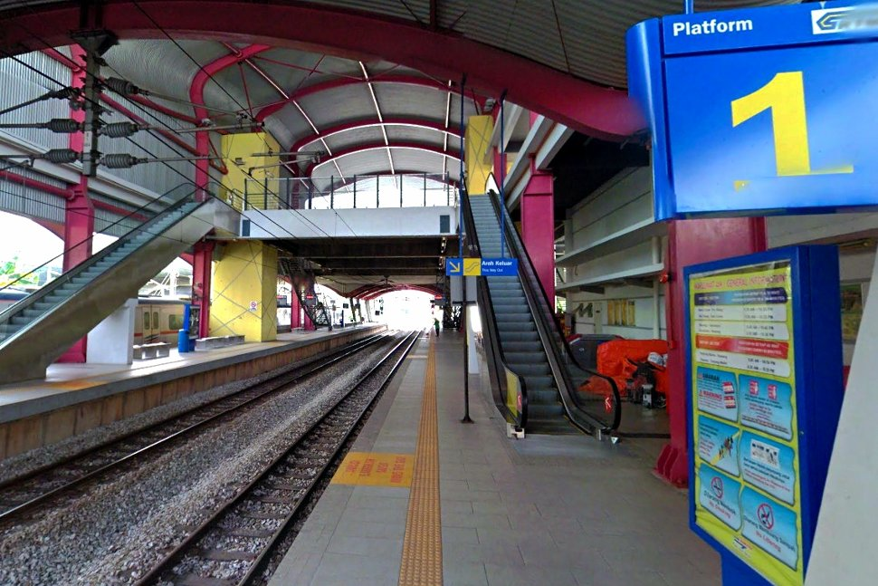 Boarding platform at Sentul KTM Komuter station