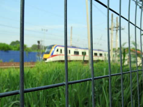 Train leaving Seremban KTM Komuter Station