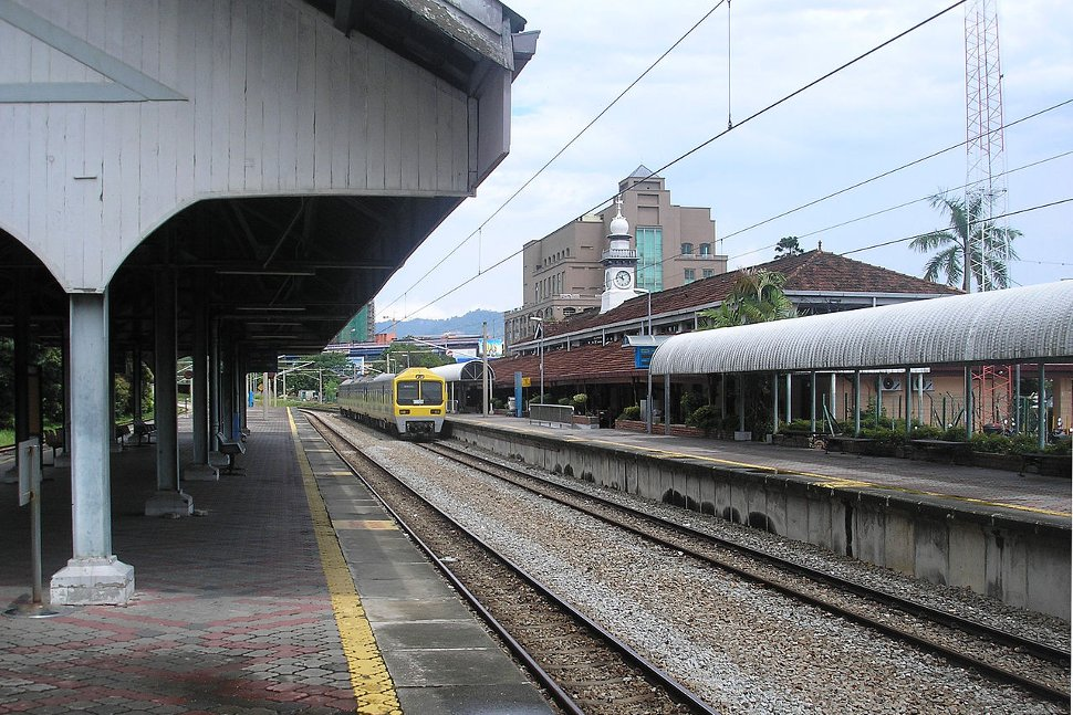 Boarding platforms at the station