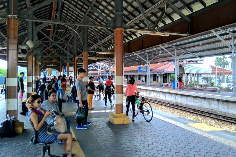 Passengers waiting at the station