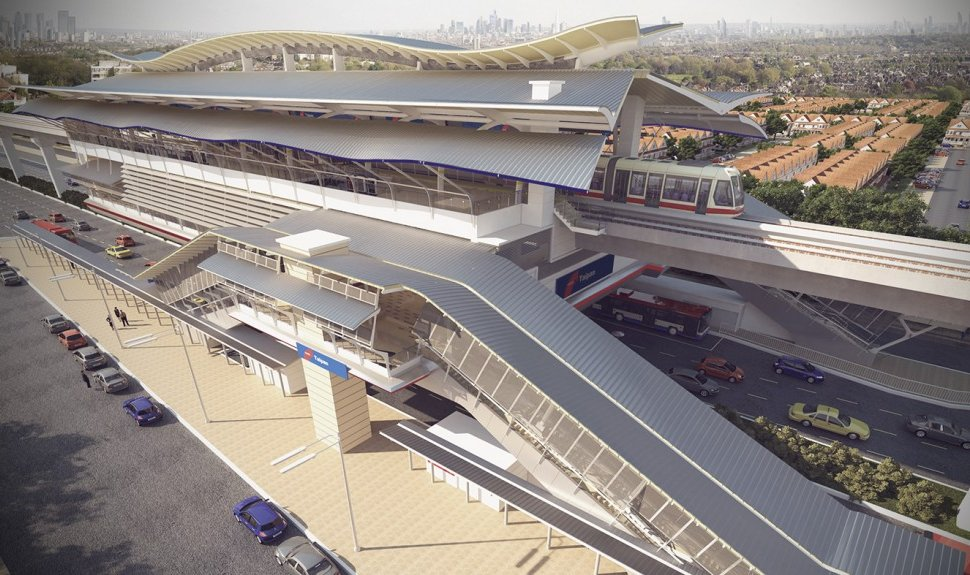 Artist impression of Taipan LRT station