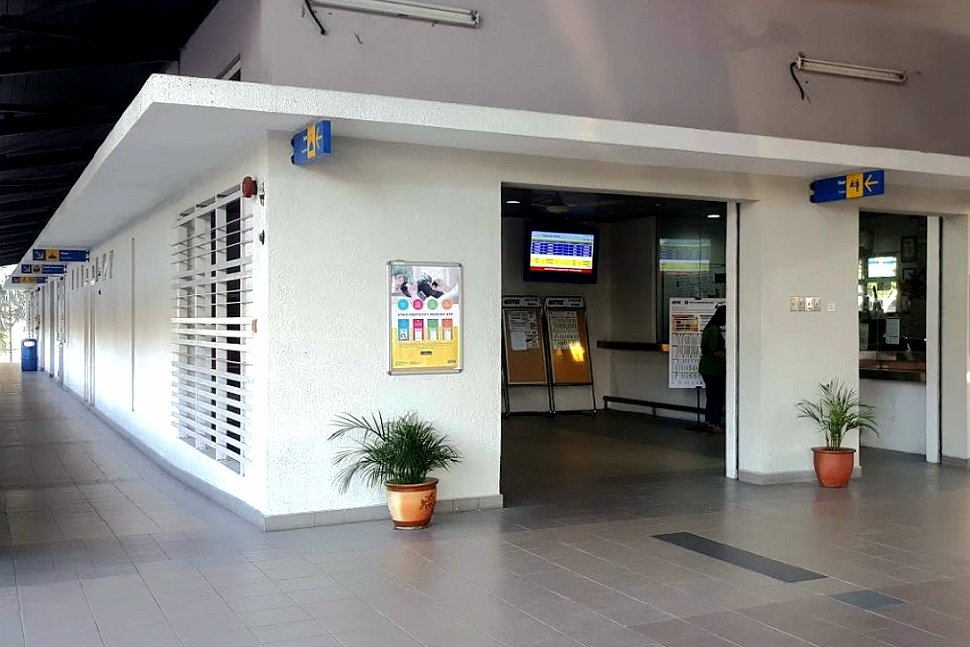Ticket counter and waiting area