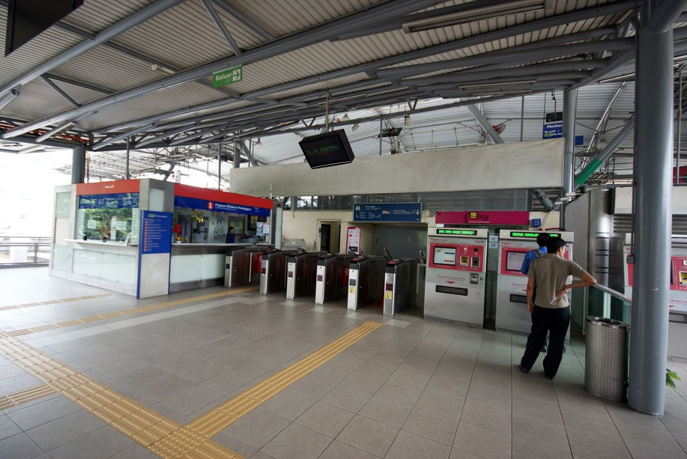 Ticket counters and entrance gates